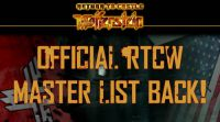 RtCW Master list is back!